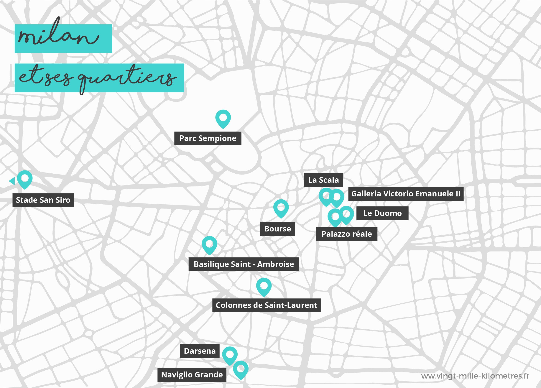 Carte Milan - que voir